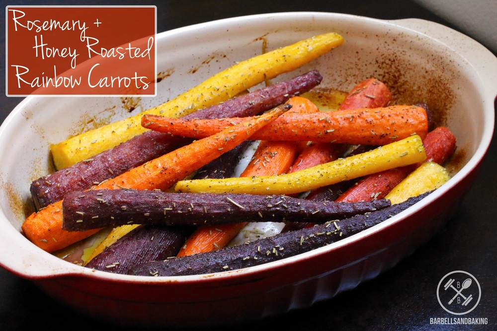 Rosemary + Honey Roasted Rainbow Carrots | A Delicious, Healthy, and Extremely Easy Side to Pair with Any Meal! | www.barbellsandbaking.com
