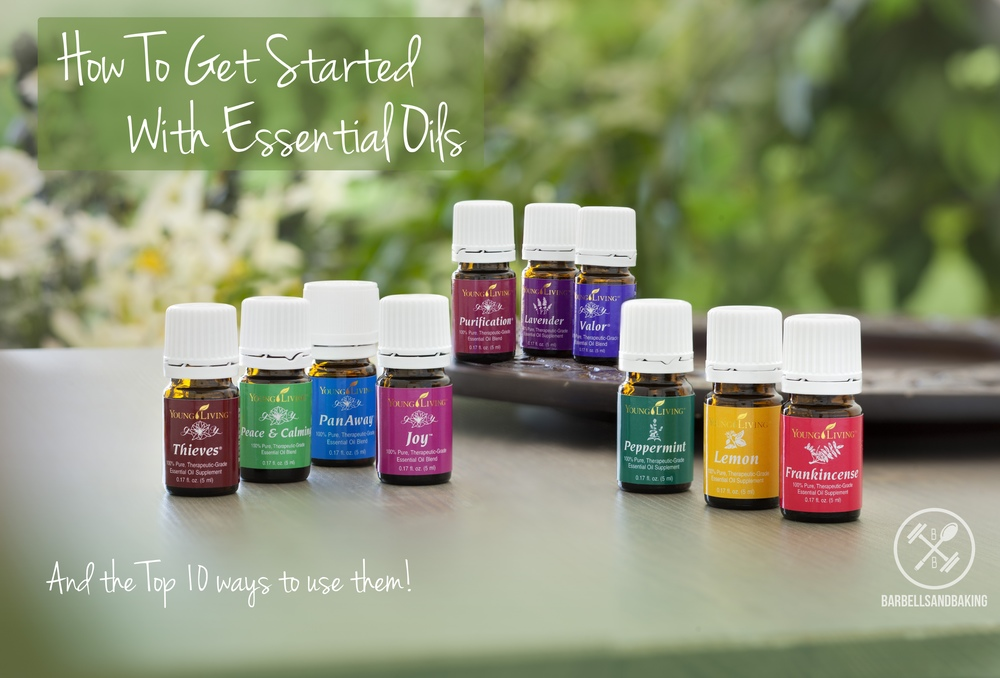 How to Get Started with Essential Oils and the Top 10 Ways to Use them! | Learn how with therapeutic grade essential oils you can ditch all of the chemical-filled home and beauty products, save money, and use healthier remedies that actually work! | www.barbellsandbaking.com