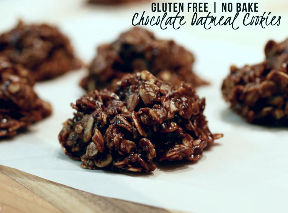Gluten Free No Bake Chocolate Oatmeal Cookies — BarbellsAndBaking