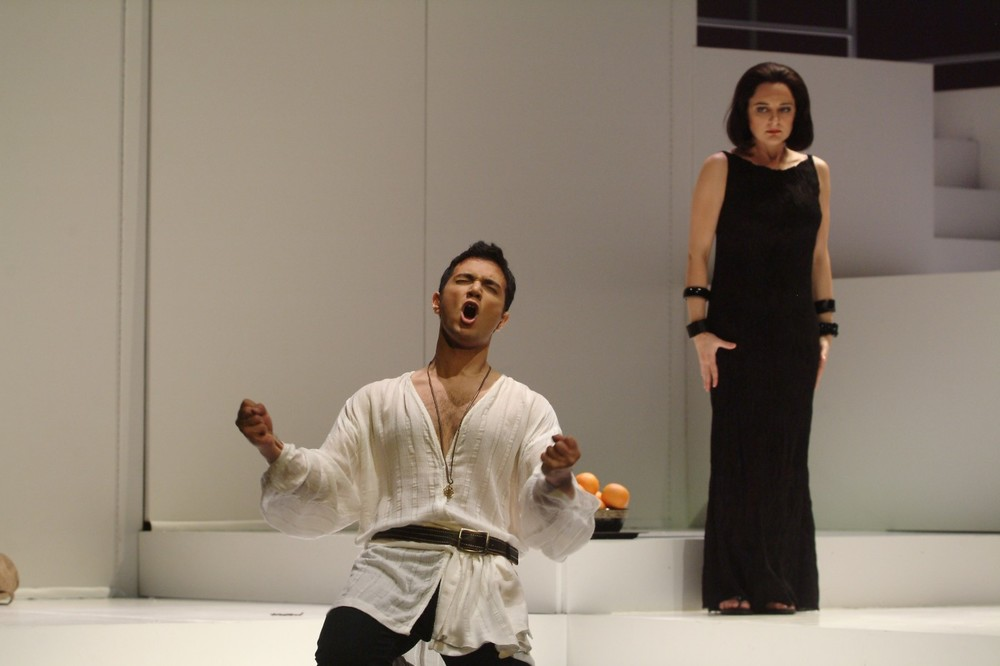 Telemaco in  Il ritorno d'Ulisse in patria  (Monteverdi) at Chicago Opera Theater with Marie Lenormand, mezzo-soprano (Photo credit: Liz Lauren)