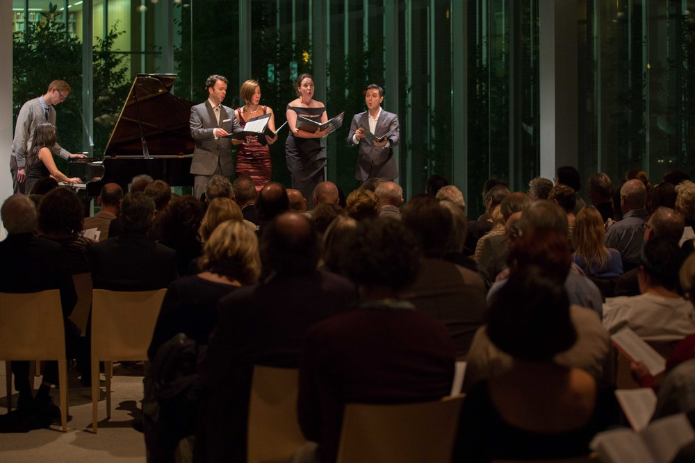 Collaborative Works Festival with Susanna Phillips, soprano; Kelley O'Connor, mezzo-soprano; Joshua Hopkins, baritone Myra Huang, piano (Photo credit: Elliot Mandell)