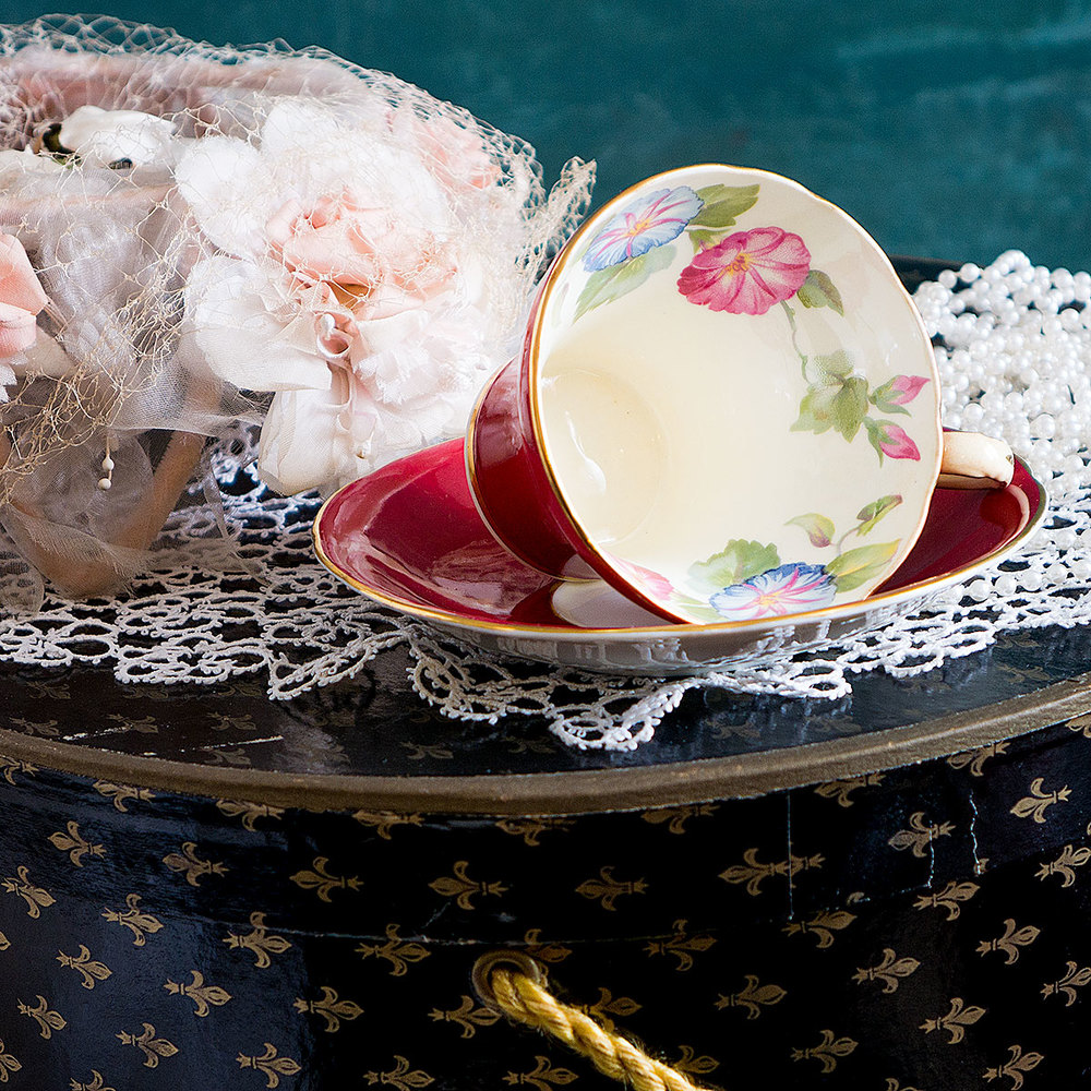 Morning Glory Teacup Candle