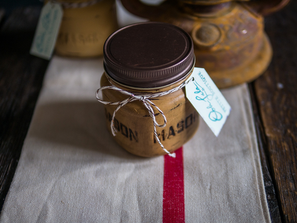 Citronella Candles in Dark Wax