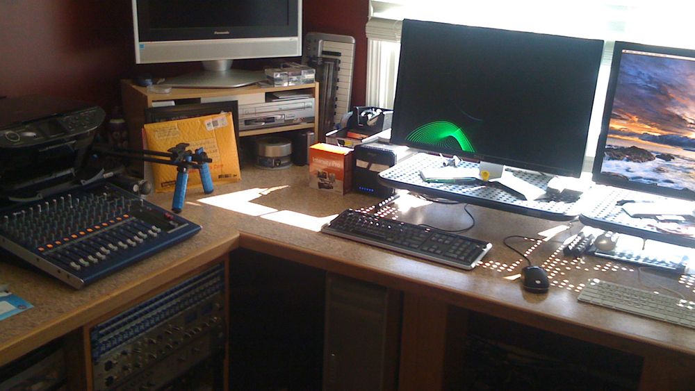 My home editing suite, circa 2010