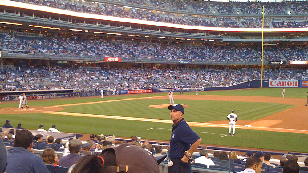 Our MLB Network Field Seats at Yankee Stadium