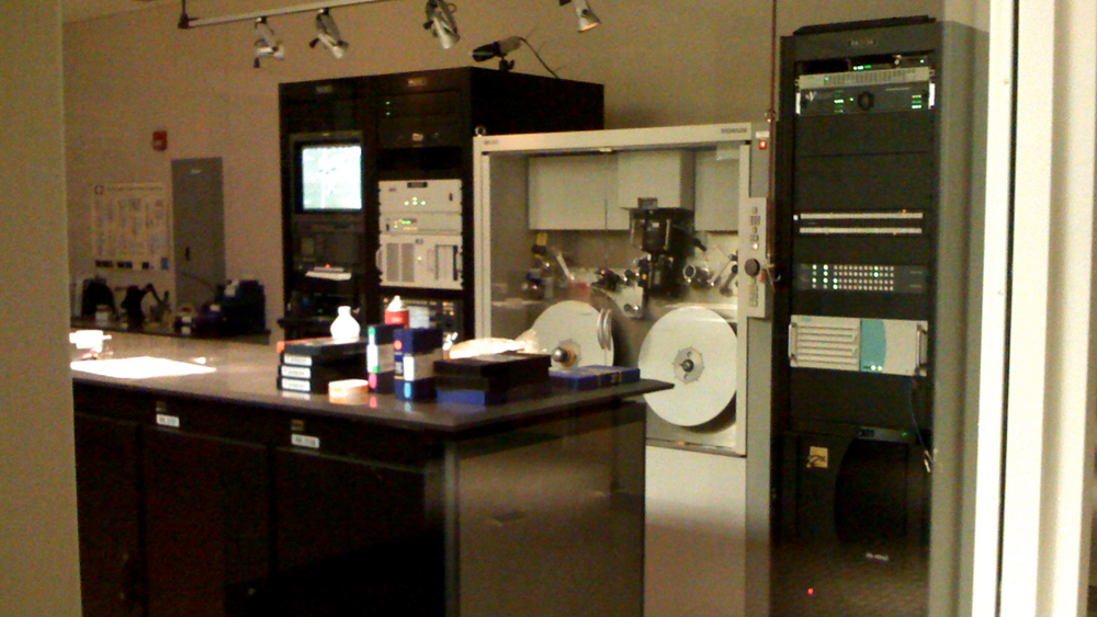 One of the Telecine rooms at NFL Films