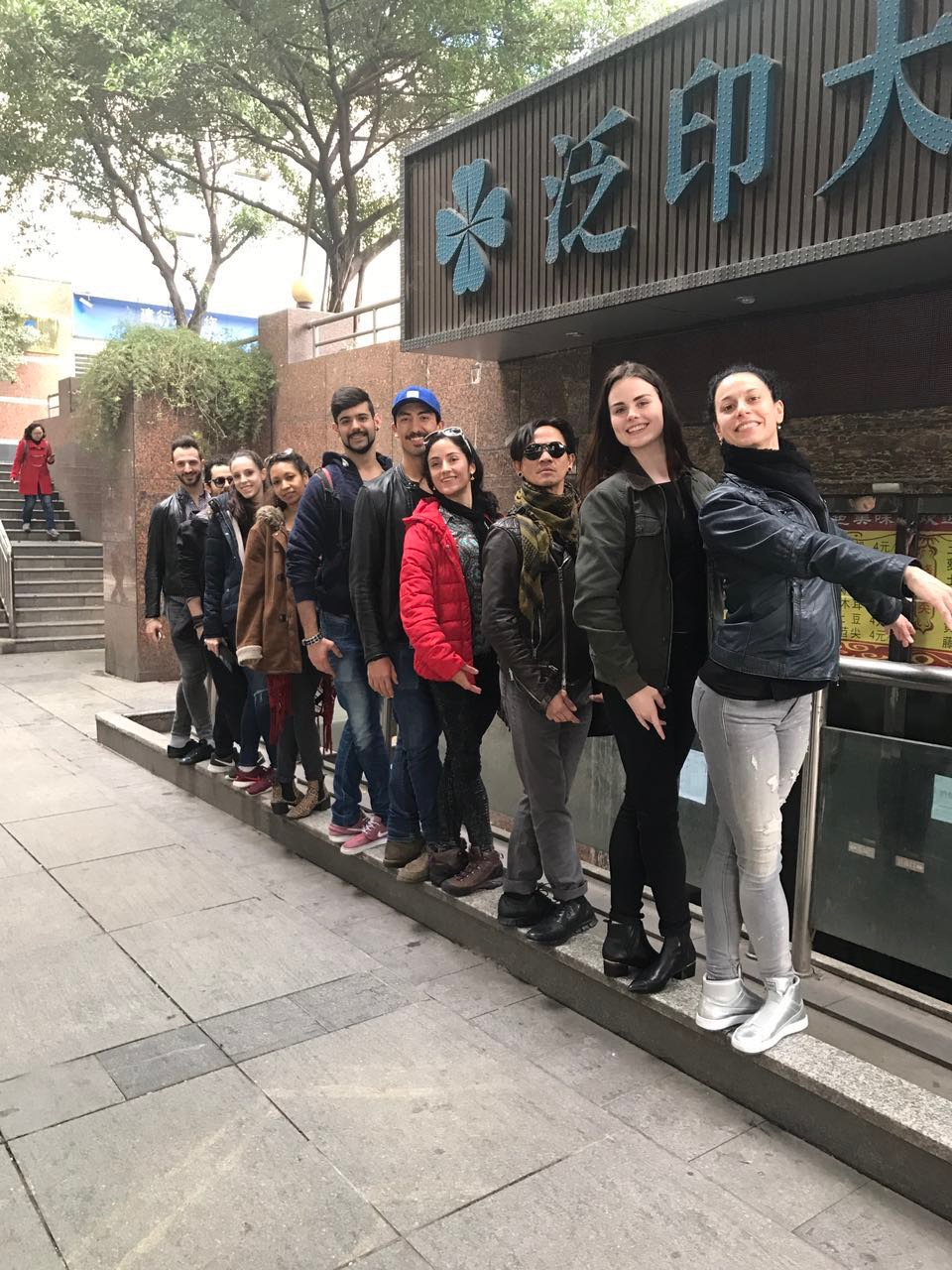 It was wonderful to get a chance to explore the beautiful city of Chongqing, and together we couldn't help but find our fifth position on the street...