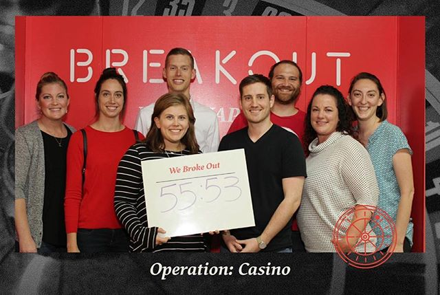 In case you didn't know already, our Board is a pretty smart group, and they proved that tonight by breaking out of the Casino Breakout Room.
