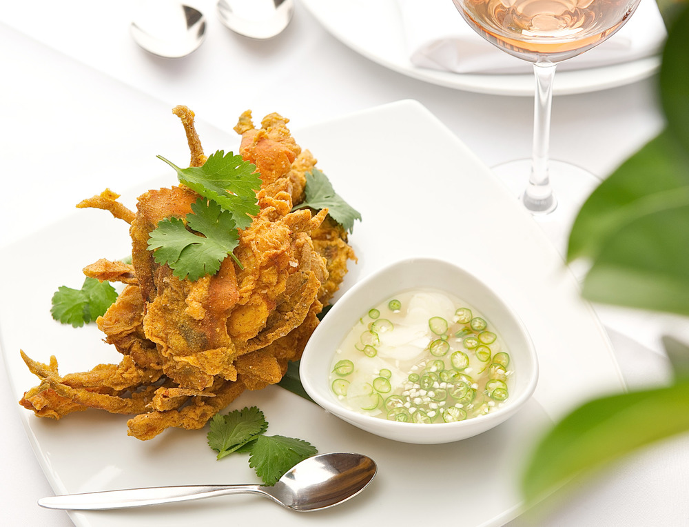 Southern style soft shell crab spiced with garlic, lime and fish sauce