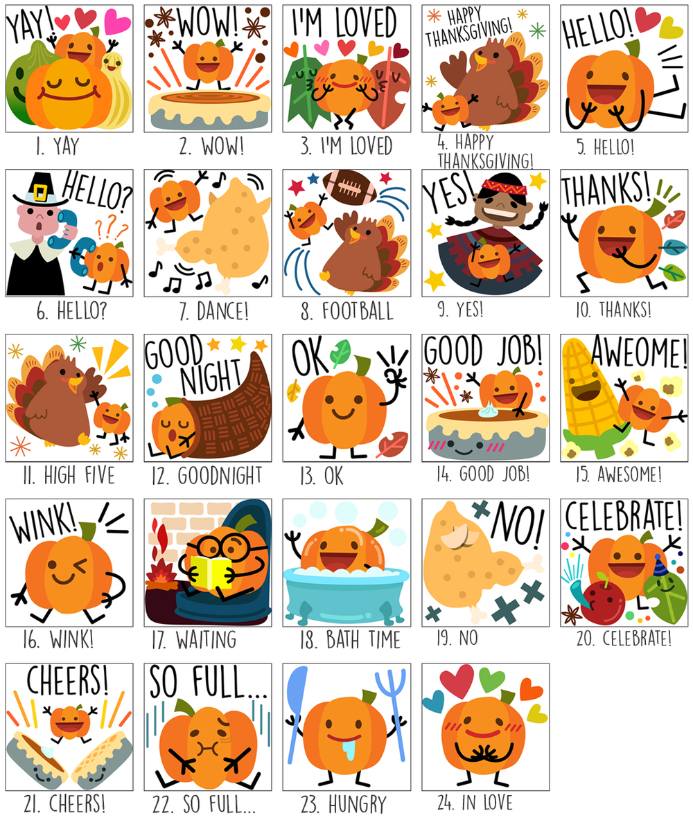 Stickers - Thanksgiving Set