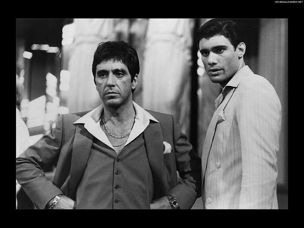 """I no longer turn my head when Tony kills Manolo, I disagree and accept the fact that some niggas can go though."" - The City Scarface 1983. One of the most difficult scenes to watch as I grew up.  The more I watched it, the more I understood about friendships and business in the real world. Gems. For more, Download ""Noah Caine: The Pre-Season"""
