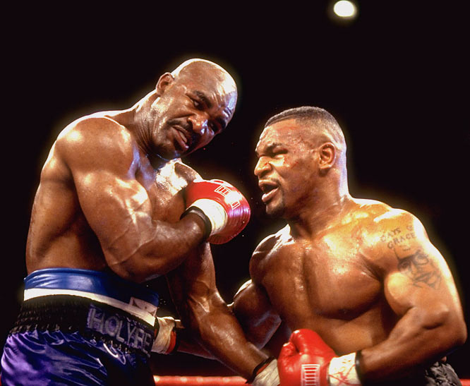"On Evander Holyfield:    After  biting  Holyfield he said, ""This is  my career . I have  children  to raise. I have to retaliate. He  butted  me. Look at me. My  kids  will be scared of  me .""   ""I felt  Holyfield  was using his head  illegally . I told the  referee  I wasn't  getting any  help, so I went back to the  streets . I cannot defend it,  but it happened .""   Steady."