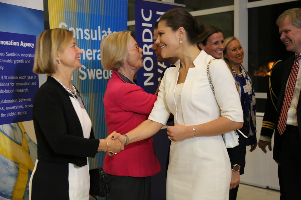 Anne Lidgard is welcoming the Crown Princess of Sweden (Photo: Annika Lehens)