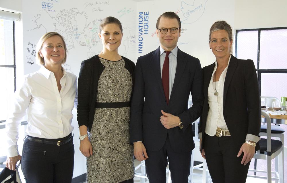Anne Lidgard, Crown Princess Victoria, Prince Daniel and Yvonne Ericsson (Photo; Annika Lehes)