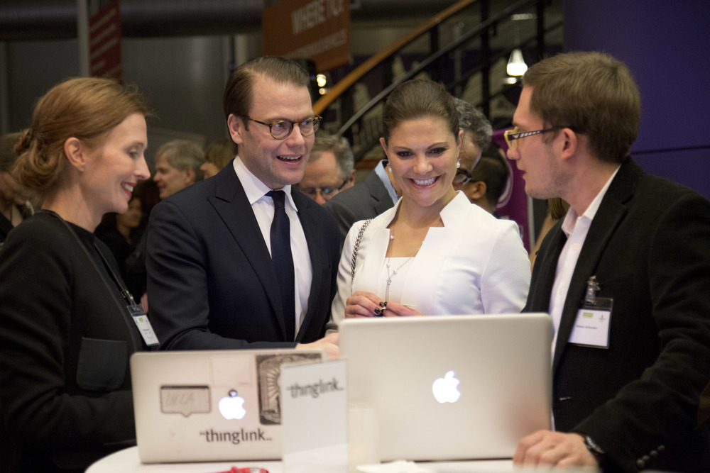 ThinkLink presented their technology for the Swedish Crown Princess couple