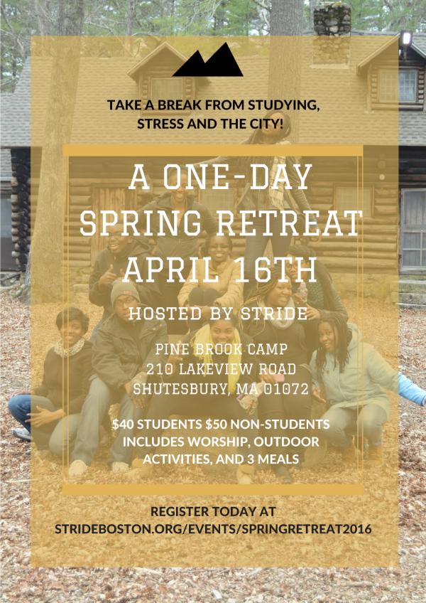 Spring Retreat 2016 Flyer
