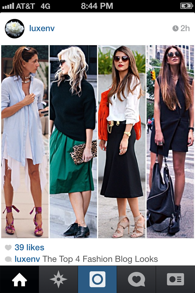 One of 4 top blogger looks of the day selected by LuxeNV.