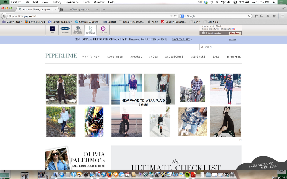 Selected for Piperlimes home page #plaid