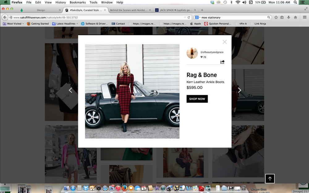 Featured on Saks Style.