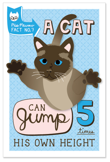 A cat can jump 5 times his own height.