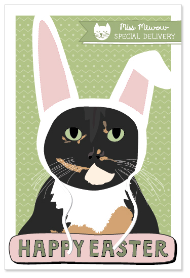 Calico cats like to dress up as Easter bunnies.