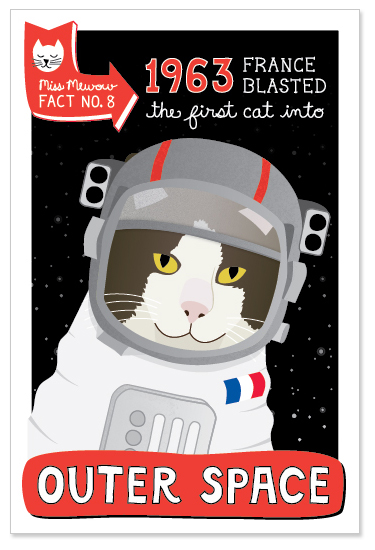 In 1963 France blasted the first cat into outer space.