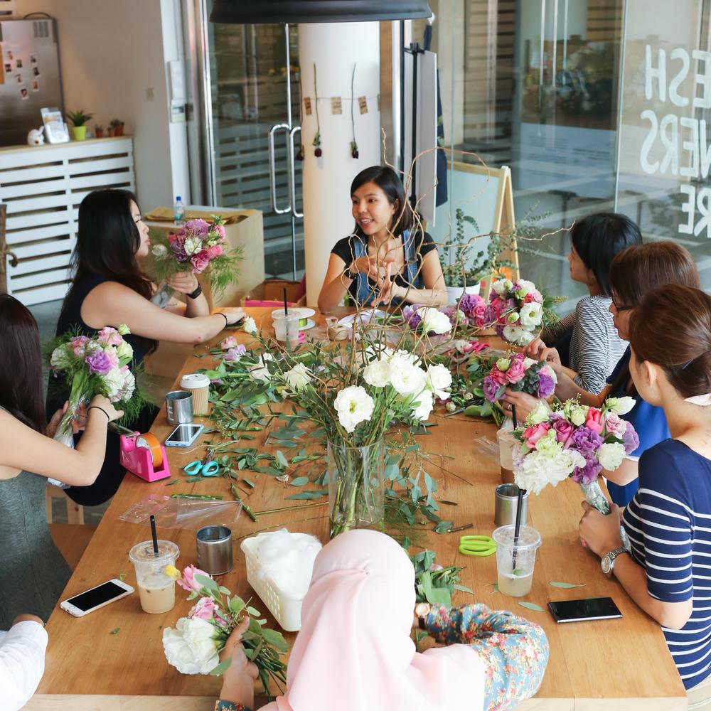 Workshop hello flowers flower crown wedding florals izmirmasajfo
