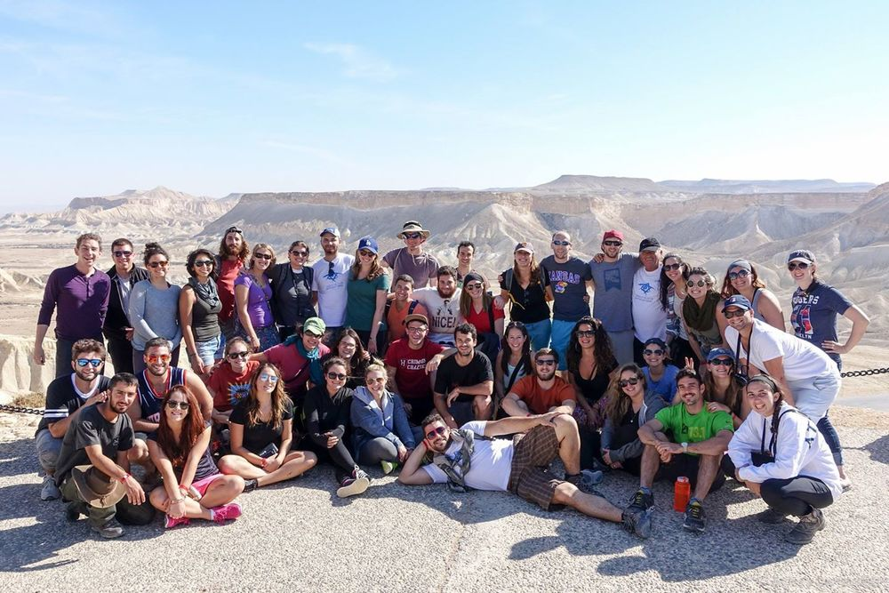 The 40+ members of my group in the Negev desert of Israel.