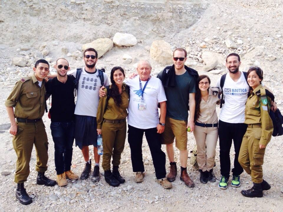 The eight Israelis who joined our trip and Maxi.