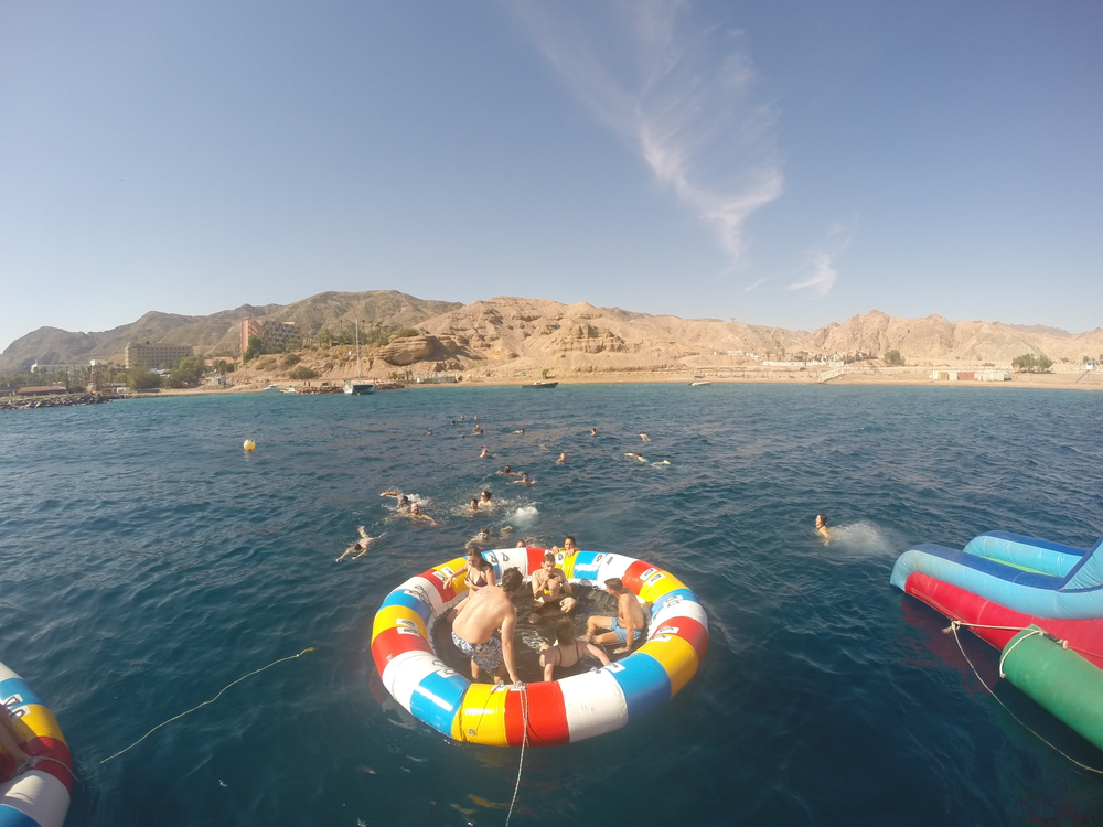 Swimming and snorkeling fun in the Red Sea.