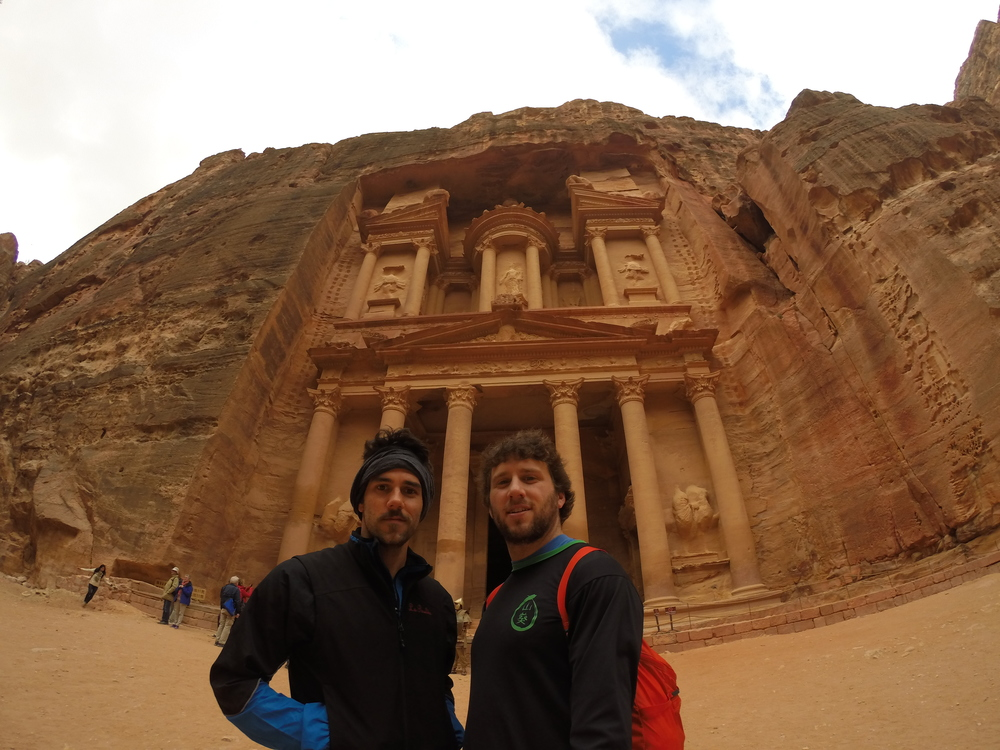 Lionel and I in front of the treasury