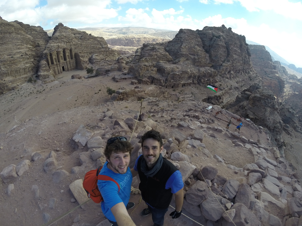 Lionel and I looking down on the monastery