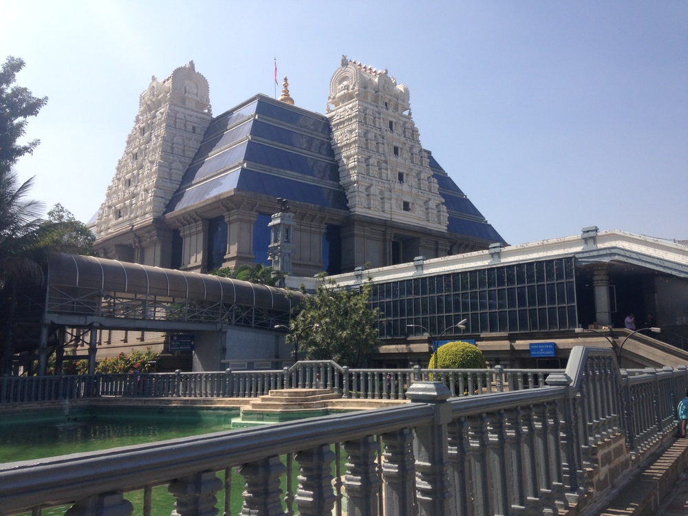 The ISKCON Temple in Bangalore.