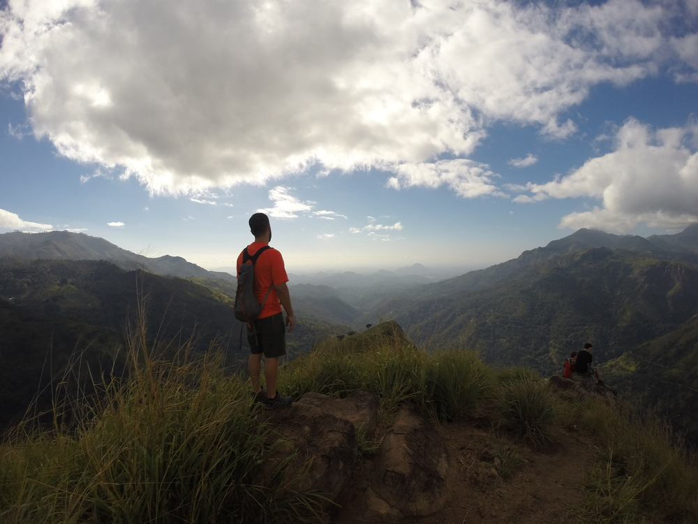 Sam looking out from Little Adam's Peak.