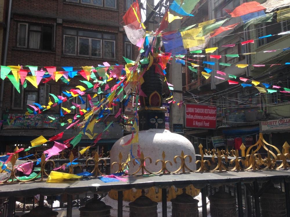 A stupa in Thamel, Kathmandu.