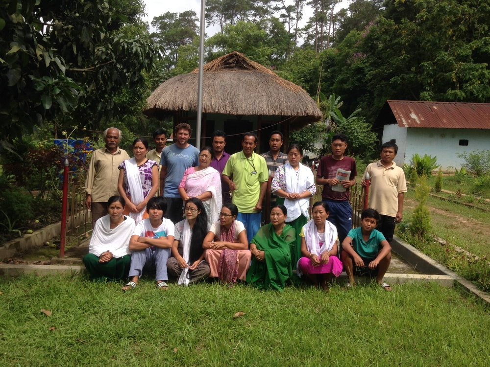 Members of U.F.O. and a group of women from a nearby town visiting for a week long meditation retreat.