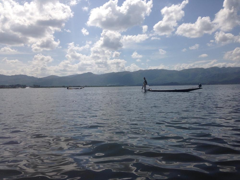 A fisherman at Inle Lake.