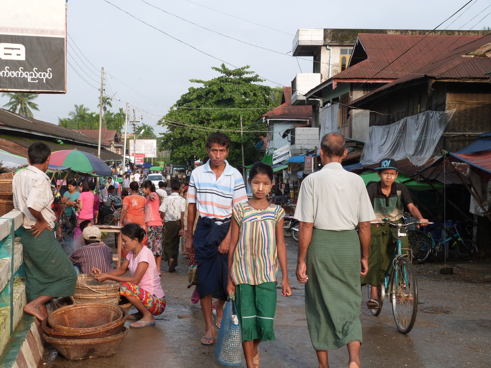 Locals in the street in Mrauk U *Photo courtesy of Sarah Frenz