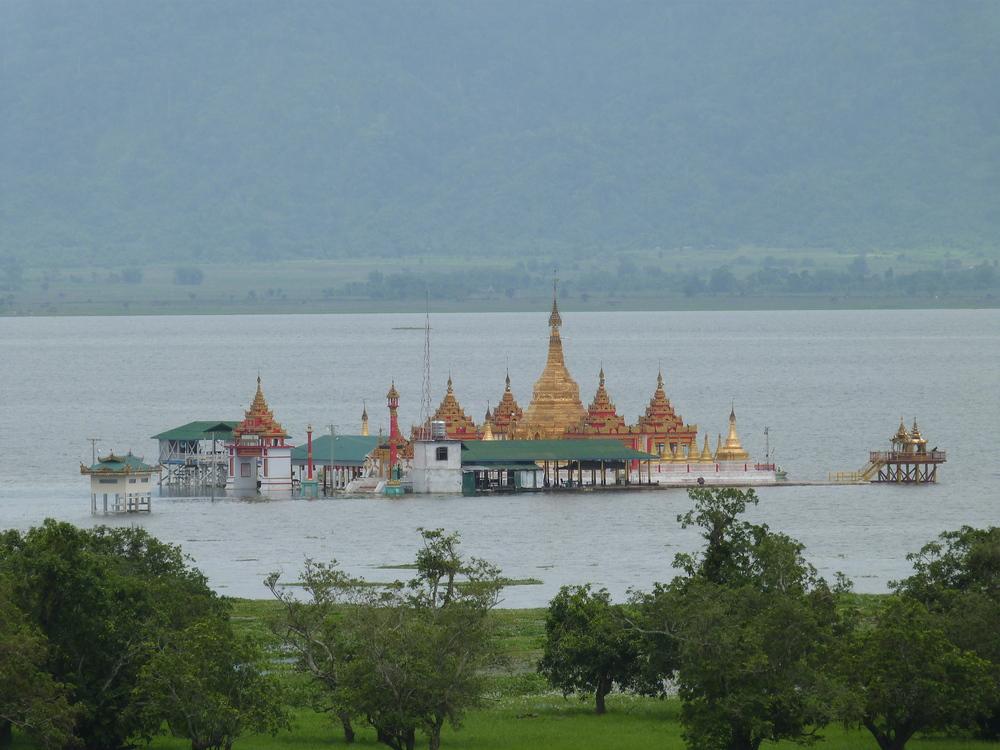 The Shwe Myitzu Pagoda at Indawgyi Lake*Photo courtesy of Sarah Frenz