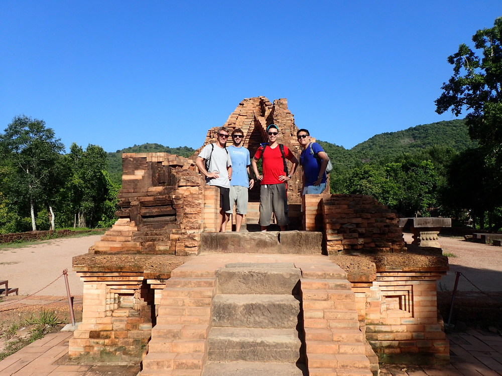 At the My Son ruins near Hoi An - Andy, myself, Richard, & John