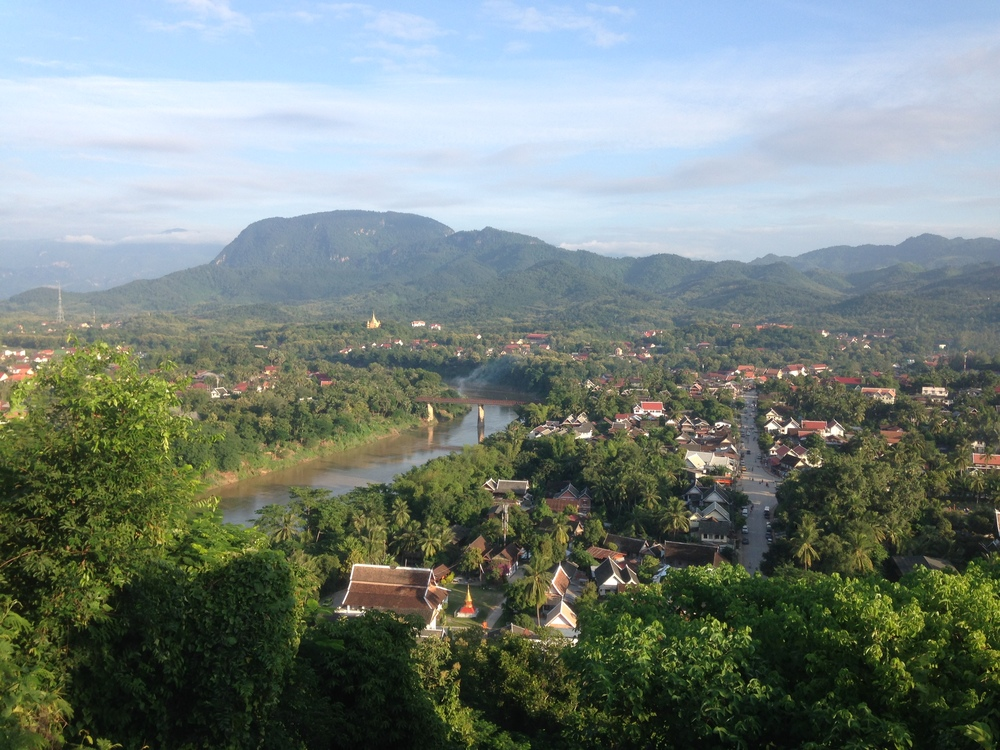 The view from Phou Si hill in Luang Prabang