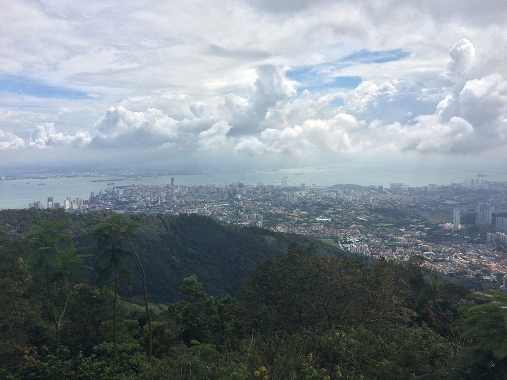 A view of George Town from Penang Hill
