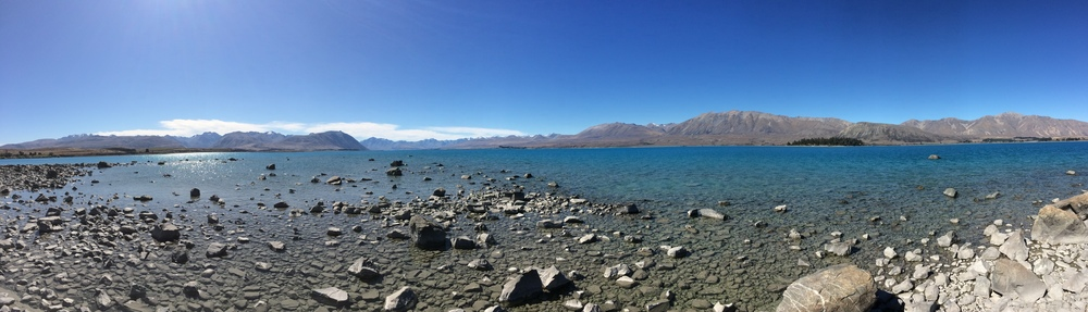 After two more rides I had made it to my first destination -Lake Tekapo