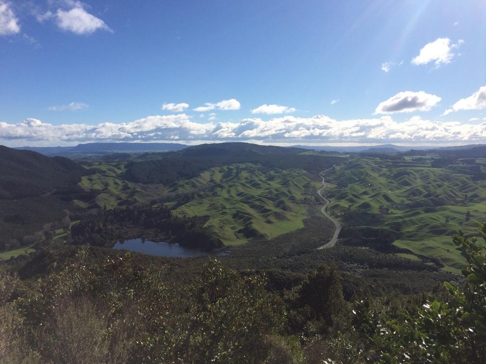 View of the Rotorua area from Rainbow Mountain