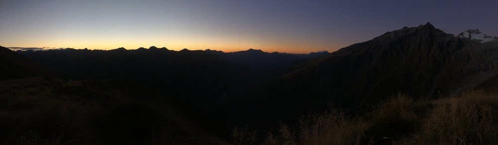 View from Mt. Brewster at sunset. Reminds me of the Patagonia logo.