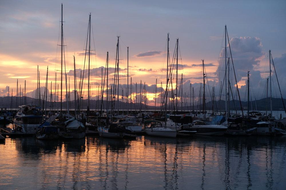 Sunset at the Royal Yacht Club Marina, Langkawi