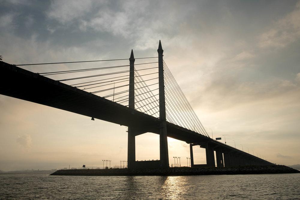 Sunrise at the Penang Bridge