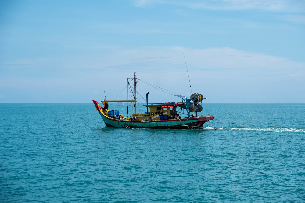 Colorful fishing boat