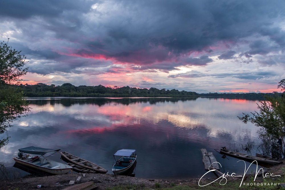 Sunset over Lake Tarapoto