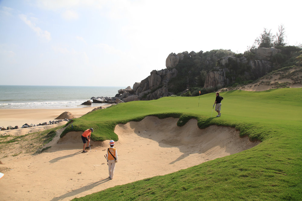 Here is a shot of the 16th hole on the East Course